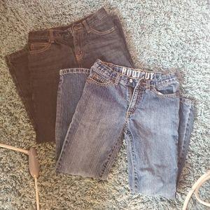 Crazy 8 boys jeans 2 pair size 8